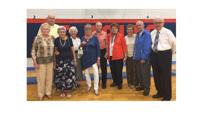 Some members of Millville's Class of 1951 visited Memorial High School on Sept. 24.