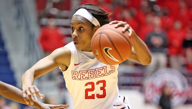 Ole Miss guard Shandricka Sessom has become the team's leading scorer after averaging just 5.3 points last season. The Rebels play at Mississippi State on Monday.
