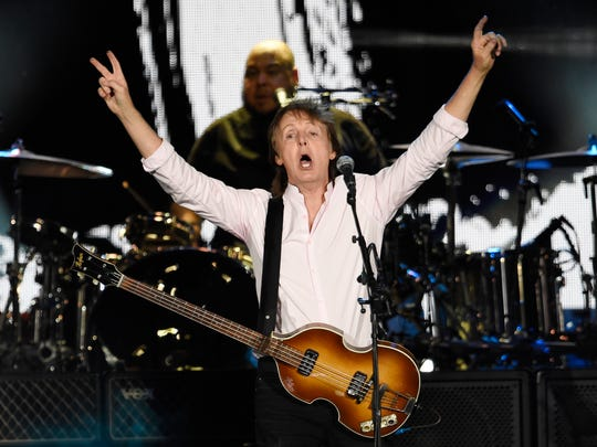 Paul McCartney performs on day 2 of the Desert Trip