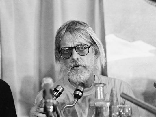 "American director Hal Ashby speaks about  his movie ""Coming Home"" at a news conference at the 31st Cannes International Film Festival in Cannes, France, May 26, 1978."