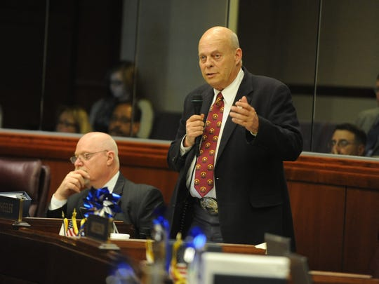 Jim Wheeler, R-Minden, is pictured on the final day of the 2013 Legislature.