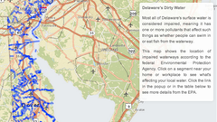 MAP: Delaware's dirty water