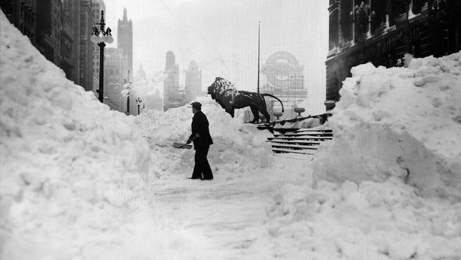 Blizzard of 1979 in Chicago.