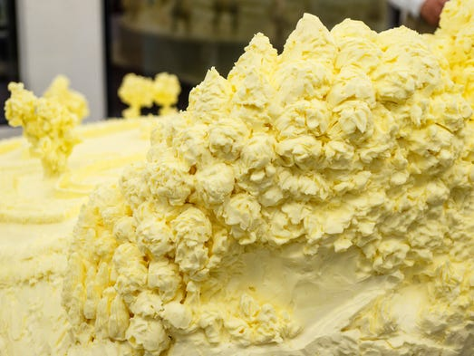 The butter sculpture is unveiled at the 101st Pennsylvania