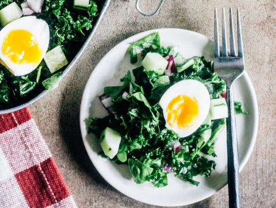 Super Green Salad with Soft-Boiled Egg