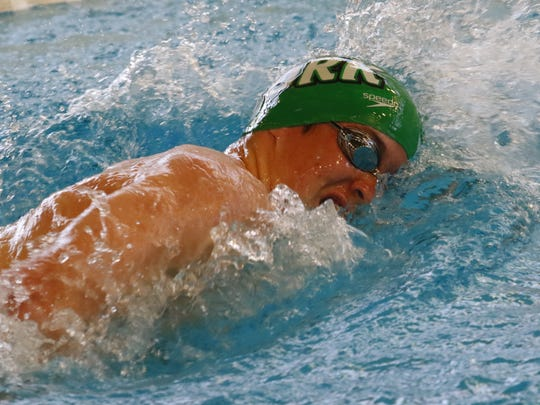 York College freshman Keven Stahl is the Capital Athletic Conference Men's Rookie Swimmer of the Year. DISPATCH FILE PHOTO