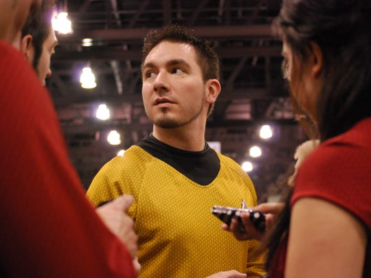 Reed Guley dressed as a character from Star Trek at