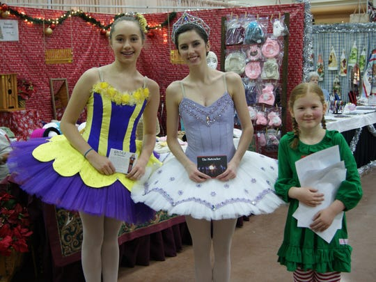 Marzipan, a Sugar Plum Fairy and a Polichinelle from Ruidoso's Dali' Ballet graced the Christmas Jubilee at the Ruidoso Convention Center.