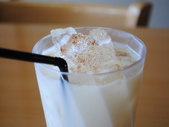Horchata, made with rice water, cinnamon and condensed milk, tastes like a refreshing glass of custard.
