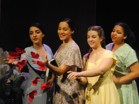 "Starring in ASTC's production of ""In the Time of Butterflies,"" opening today at ASNMSU Center for the Arts, are, from left, Stephanie Vasquez-Fonseca, Parigrynne Cox, Stephanie Drake and Daniela Castorena."