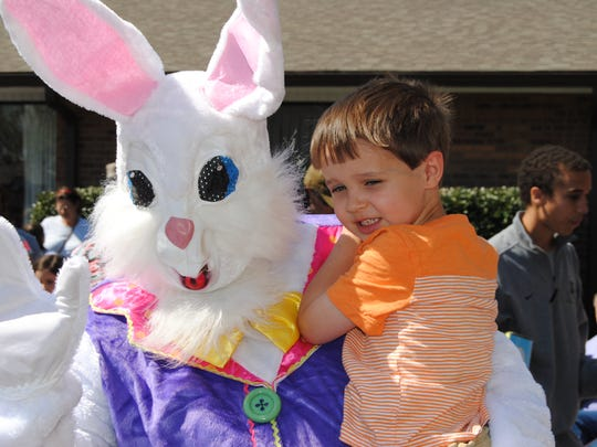 The Easter Bunny will be at this year's egg hunt again.