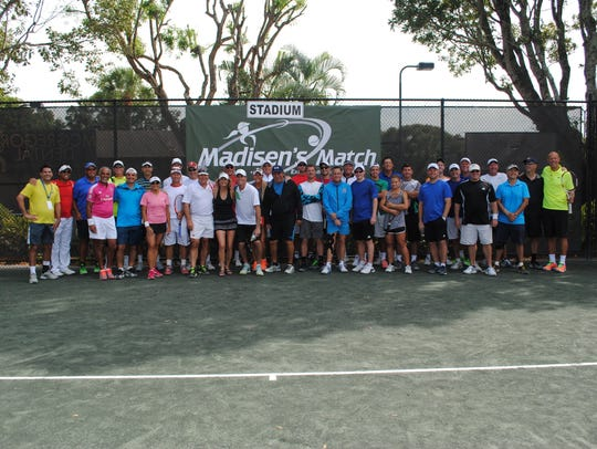 Many tennis pros from around the region, the national