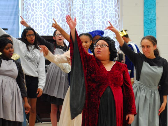 "Northside High School students rehearse for ""Once Upon"