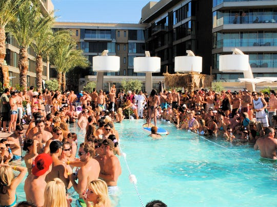 The pool at the W Scottsdale Hotel is always a popular spot during the weekends in the summer.
