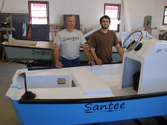 Ralph and Matt Mitchell are passing along their legacy of boat building with their lineup of Santee Boats, built in the Upstate.