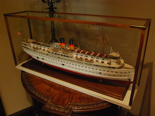 A scale model of the steam ship South America is in one of the bedrooms of the Capt. David Lester House.