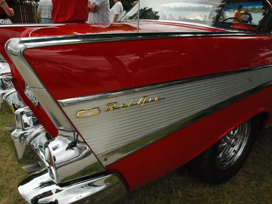Tailfins were big at  the St. Clair Classic Car Show