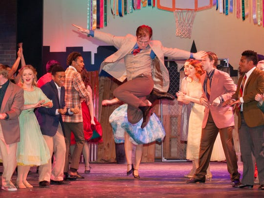 """Mitch Donahue as Riff and cast  in CenterStage's production of """"West Side Story."""""""