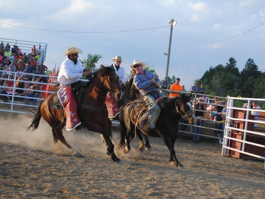 Cowboys came out for Monday night's rodeo at the St.