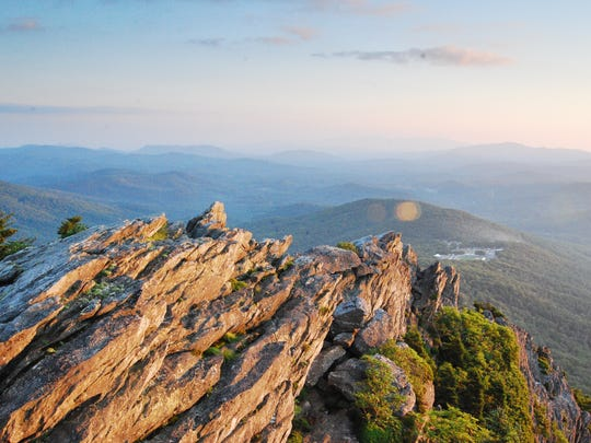 Grandfather Mountain is a great spot to beat the heat, but be sure to wear a windbreaker, rubber-soled shoes and some sunscreen.