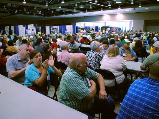 Attendees at the 2011 Louisiana Rural Water Association conference pack the Alexandria Riverfront Center.