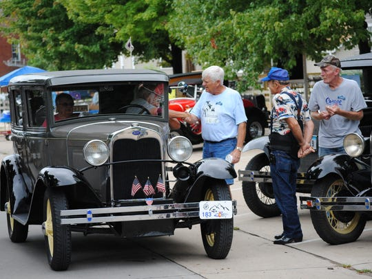Model A enthusiasts gathered Saturday, Aug. 20, in