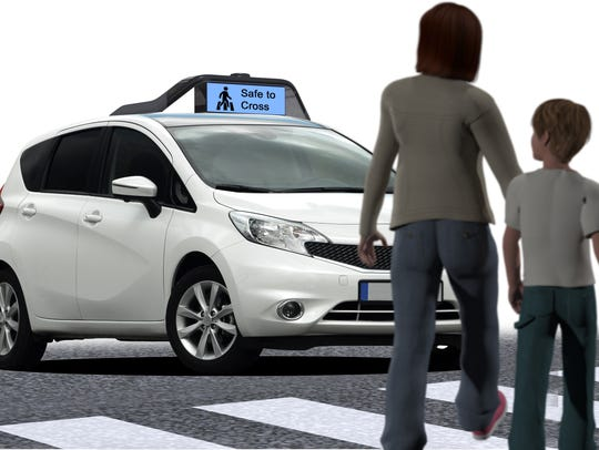 An illustration depicts one possible way that Drive.ai
