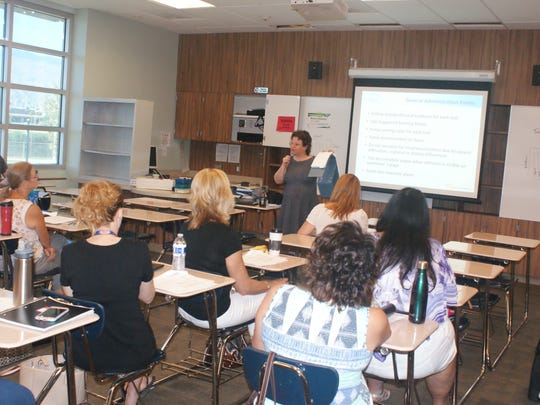 The three-day Summer Institute included 72 training and informational sessions, like this one, for attendees.