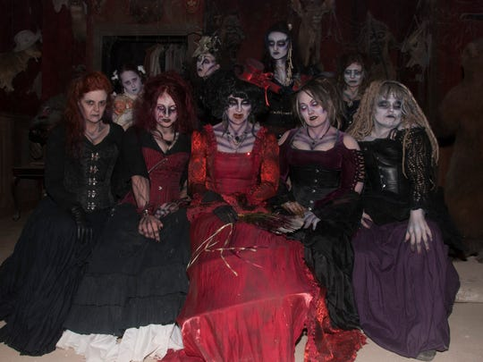 The crew of the Wisconsin Feargrounds is already delivering scares. They include (front row, from left) Shay Armstrong, Amber Robinson, Ann Marie Gavinski, Stephanie Bronsted, Sarah Beth Kremer (back row, from left) Emmaleigh Smith, Krystal Nettesheim, Lauri Shea and Beccah Roemer.