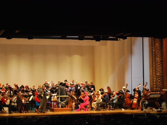 The Evansville Philharmonic Chorus joined the orchestra for several songs throughout the concert.