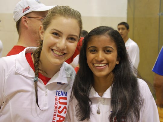 Estero's Elena Dent and partner Nikita Chauhan lost
