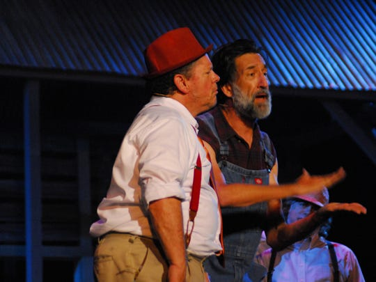 "Wayne Gonsoulin plays Boudreaux and Shane Guilbeaux is Binny in ""Jambalaya, the Musical."""