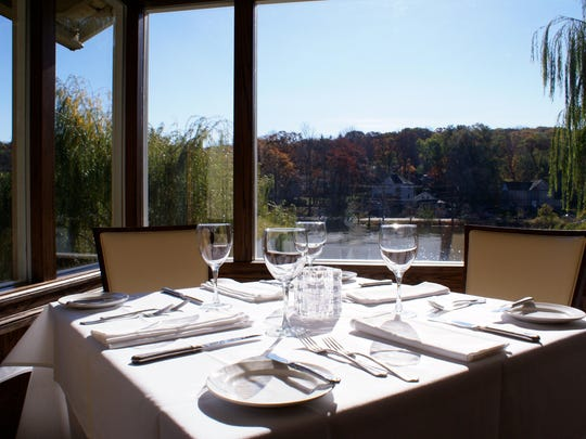 Views of picturesque Watchung Lake set a romantic scene at Water & Wine in Watchung.