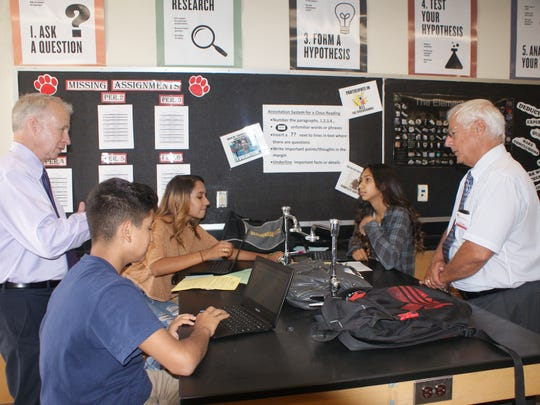 T.R.E.C. participants see firsthand what and how students are learning in Desert Sands Unified schools.