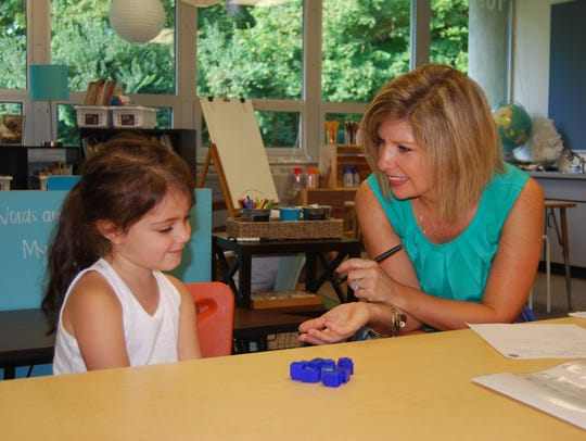 Kindergarten teacher Julie Engelbert gets to know new