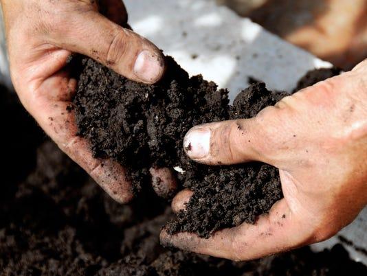 soil in farmer hands