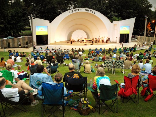 A crowd away showed up in 2008 for the dedication of the new Levitt Shell in Overton Park.