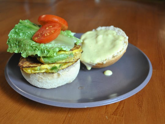 An asparagus patty sandwich will be on the menu during LaLa's Slightly Sicilian's audition at Taste Test later in March.