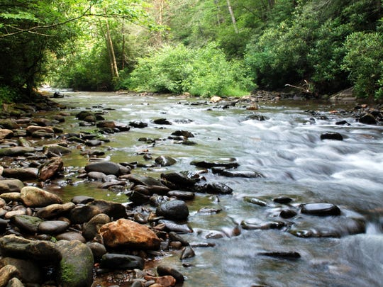 The privately held pristine trout waters of the North