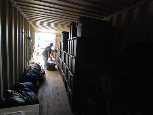 About fifty people's possessions can fit in the Street