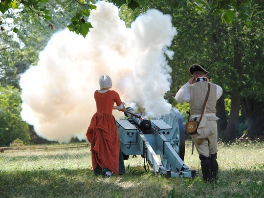 The battles during the Rendezvous are punctuated with the sound of cannon fire throughout. The three battles during the two-day event Saturday and Sunday are one of the highlights for visitors.