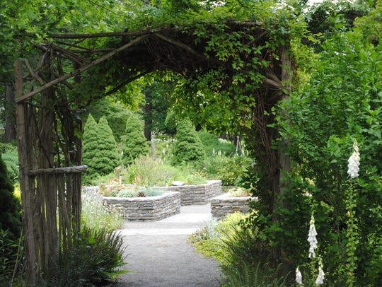 """Entrance way to the """"barrier-free"""" sensory garden at"""