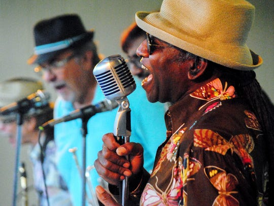 The Saints of Soul play during a Rhythms in Riley Park concert.
