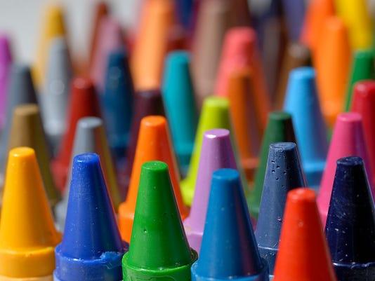 Crayon Macro Close Up