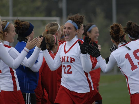 Amanda Strous wore No. 22 for the Shippensburg field hockey team and lettered all four years.
