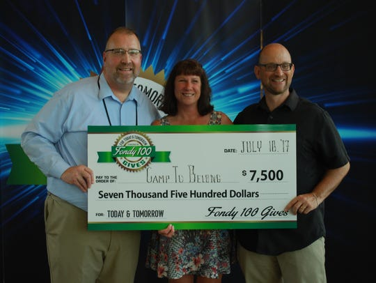 Fondy 100 Gives members voted to give its first $7,500
