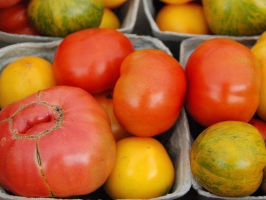 Heirloom tomatoes will be front and center at a farm-to-table dinner Aug. 12 at Argos Farm in Lacey. The five-course menu is being crafted by Chef Jason Arellano.