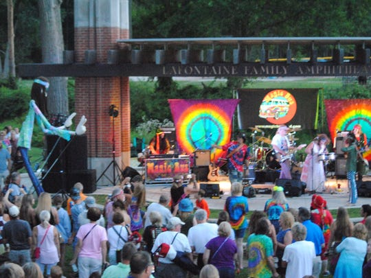 What some said was the largest crowd ever turned out for the July 27 Magic Bus concert.