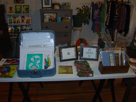 Wooden Hill has a variety of items ranging from paintings to decorated note cards.