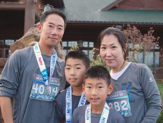 The Kim family, Max, Joshua, Caleb and Sandra participate